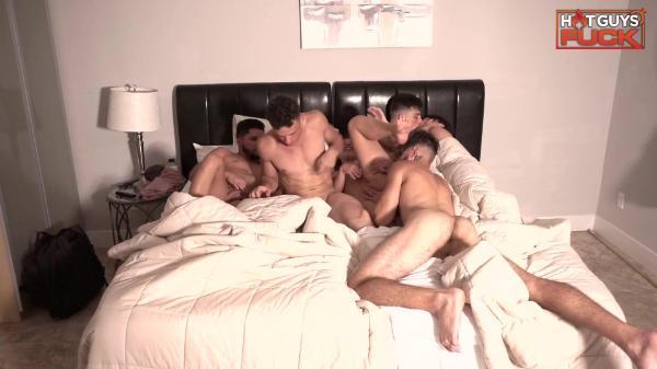 Hot Guys Fuck – Jacuzzi Bedroom Orgy Got Wild