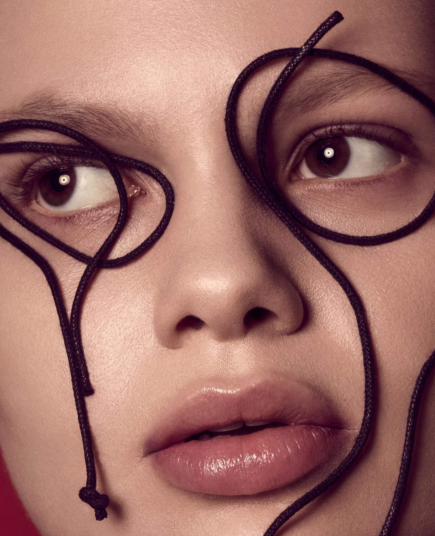 Нестандартный макияж Вероники Линн / фото 01