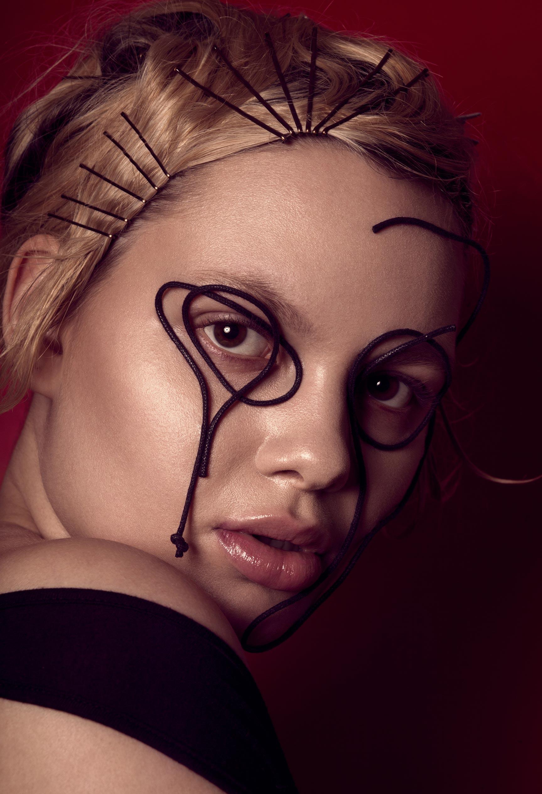 Нестандартный макияж Вероники Линн / фото 07