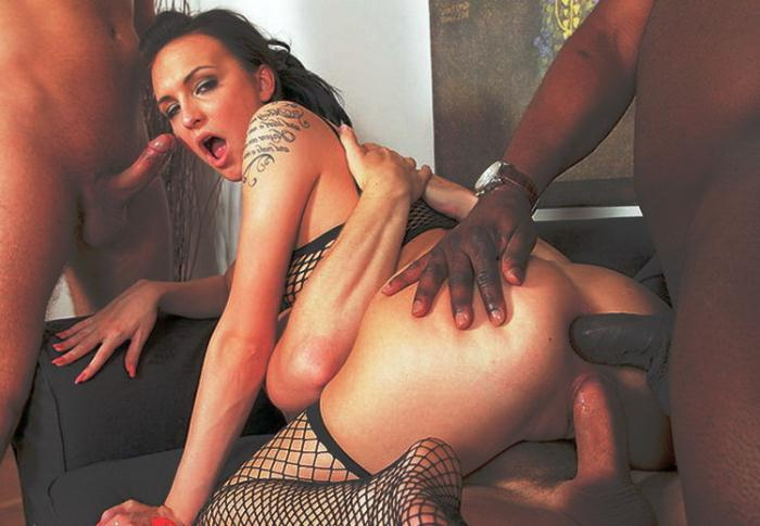 XTime.tv: Interracial gang bang for a hot brunette - Belle Claire [2021] (HD 720p)