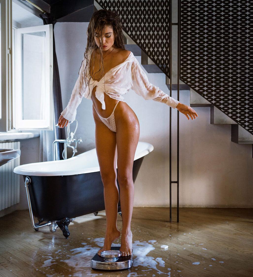 Взвешивание после ванной / фото 01