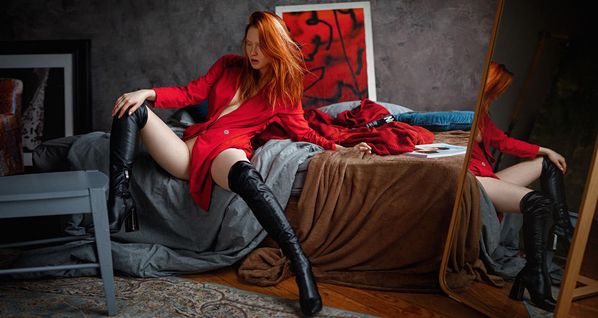 рыжая фотомодель Арина Бикбулатова / фото 01