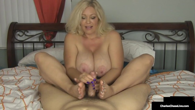 Handjob Housewife Charlee Chase Slides Hands on your Cock!!