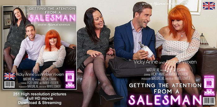 [Mature.nl] - Amber Vixxxen (EU) (56), Vicky Anne (EU) (44) - Two horny mature housewives getting it on with a salesman (2021 / FullHD 1080p)