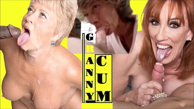 [blowjobcartoon] - GRANNY - BLOWJOB COMPILATION Swallow mature blonde sluts cum swallowing blowjob BBC pov MILF cumshots (2021 / HD 720p)
