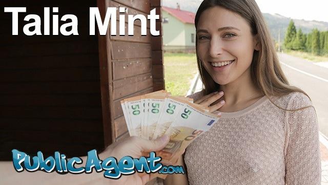 [PublicAgent] - Talia Mint - Hot brunette Talia Mint sucks and fucks outdoors (2021 / FullHD 1080p)