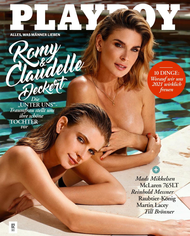 Мама с дочкой в журнале Playboy - Клодель и Роми Декерт / фото 01