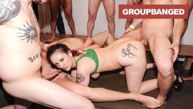 [GroupBanged] - Group Banged - Whore with Gang Tattoo on her ass Fucked by the Guys (2021 / HD 720p)